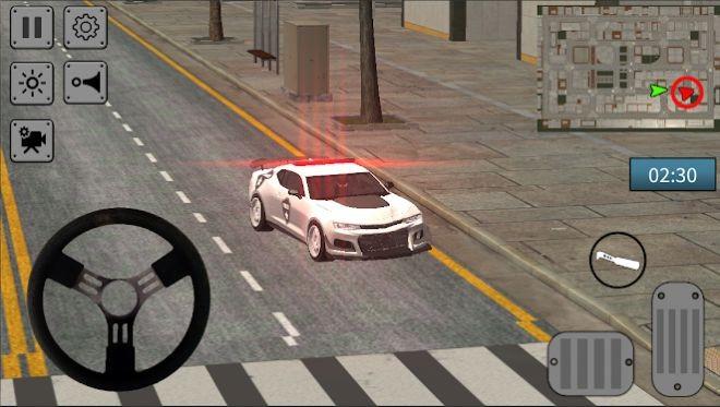 警察追踪汽车驾驶模拟器截图1