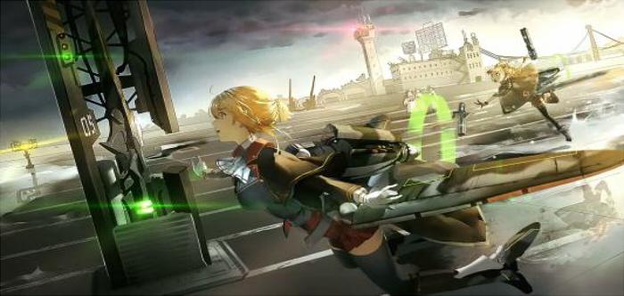 与少女兵器共同战斗的游戏
